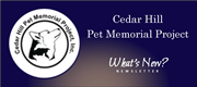 Pet Memorial newsletter