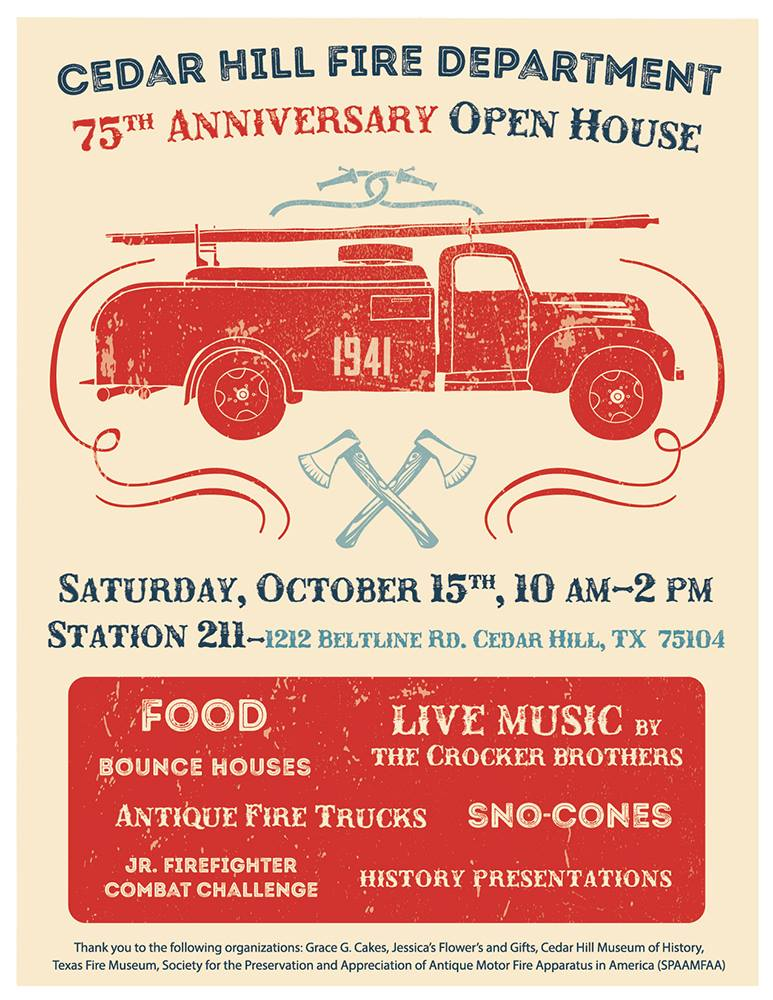 Fire Dept 75th Anniversary Flyer