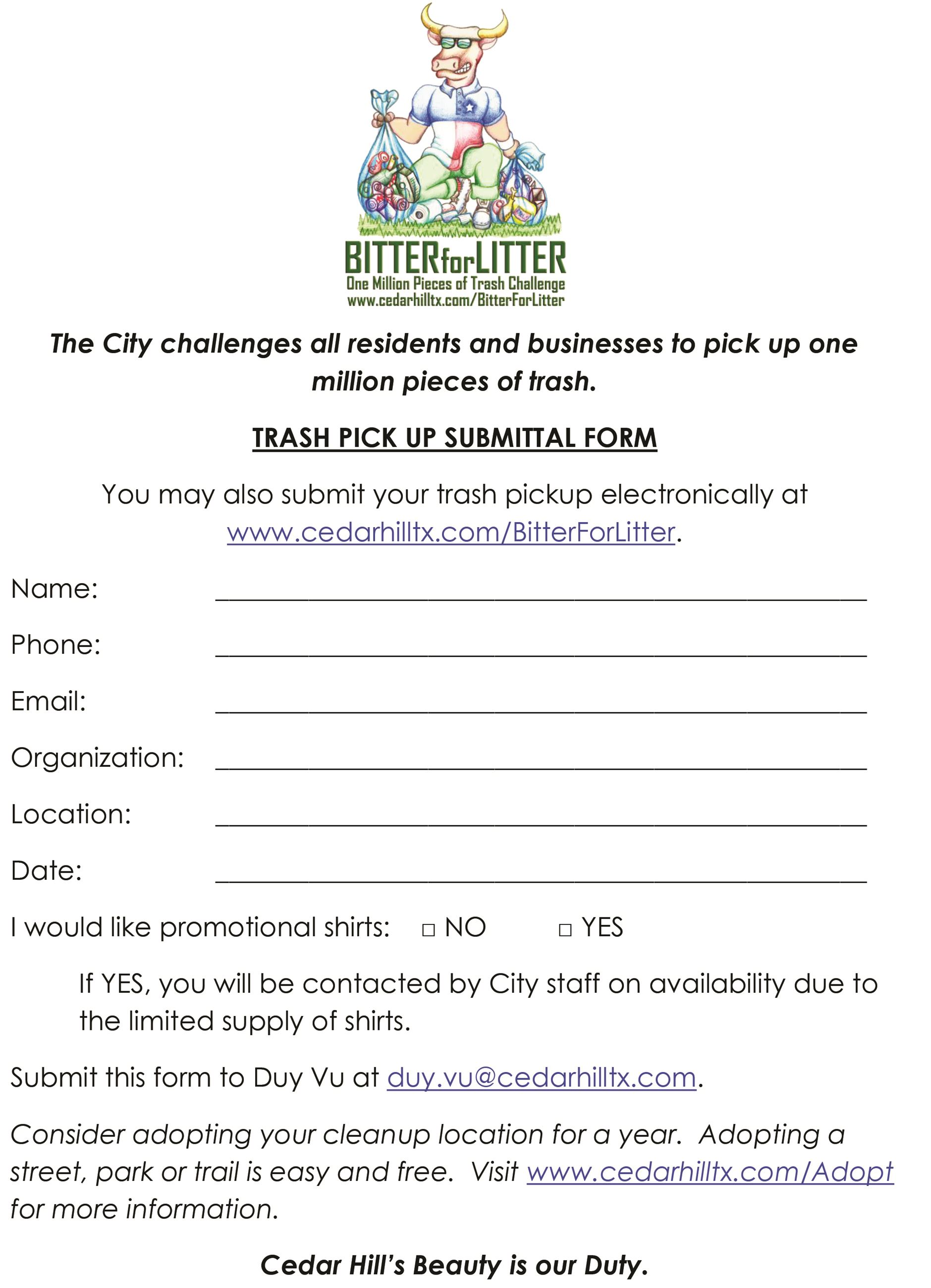 Bitter for Litter TRASH SUBMIT