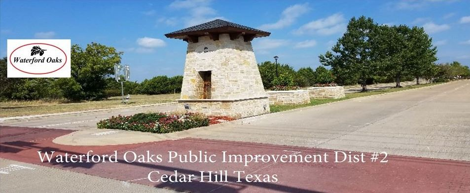 Waterford Oaks Public Improvement District Entrance