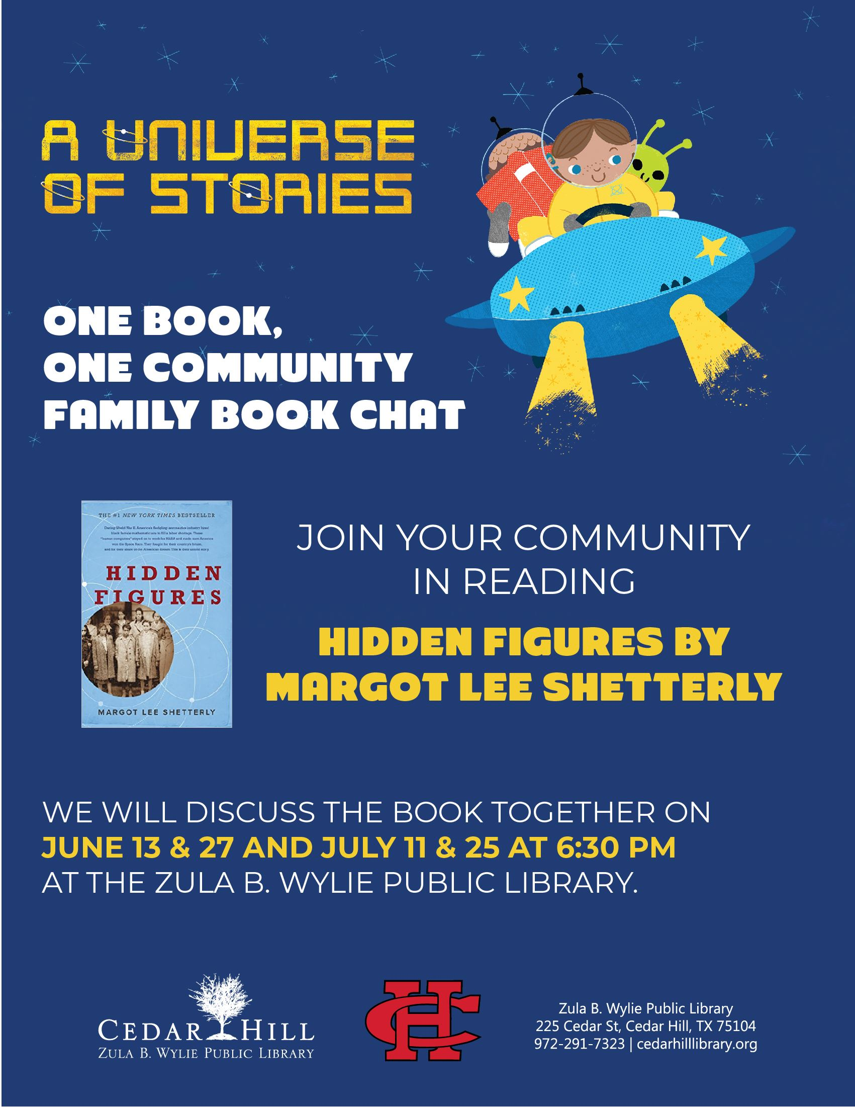 One Book One Community Book Chats