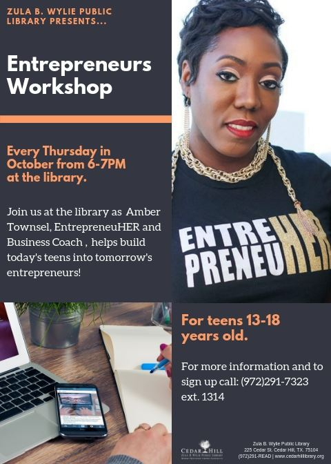 2018TeenEntrepreneursWorkshop