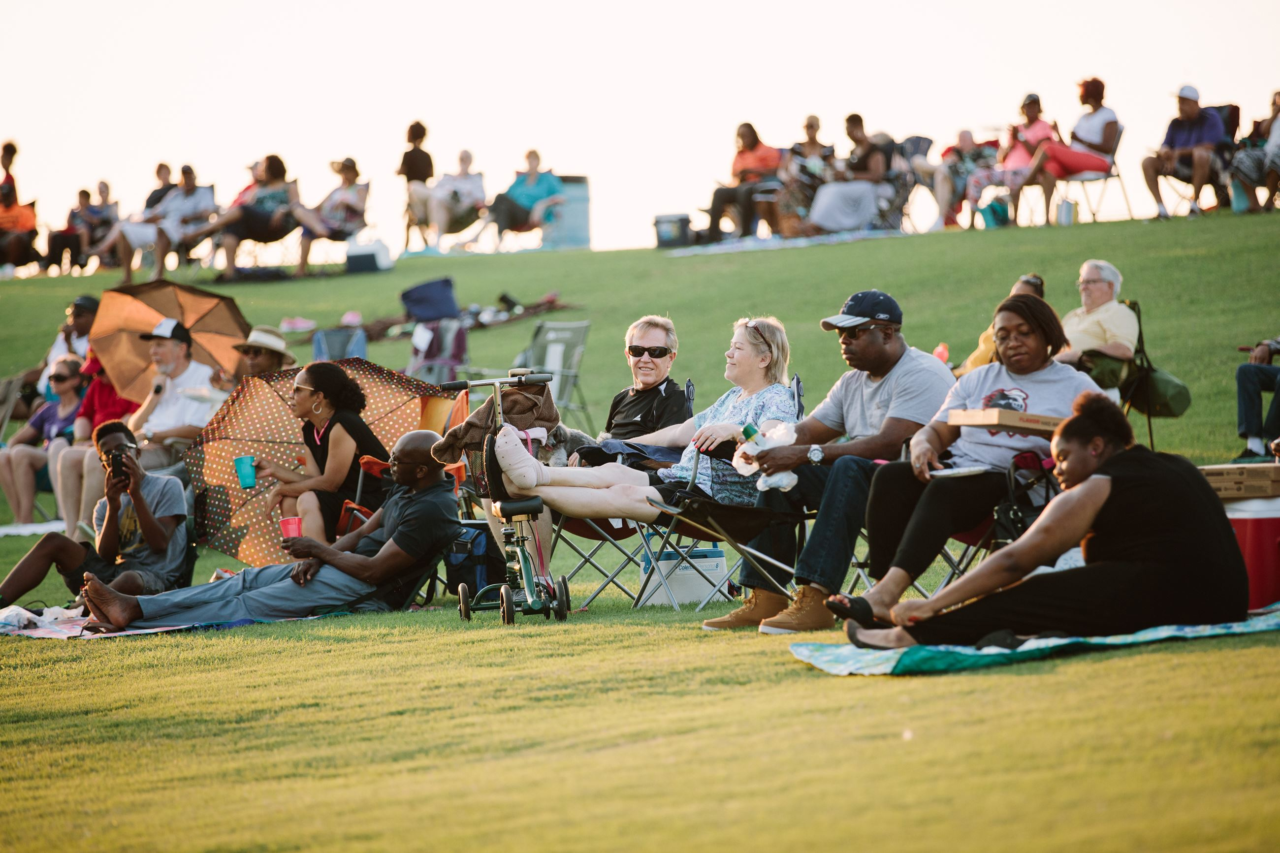 Concert-goers at Valley Ridge Park