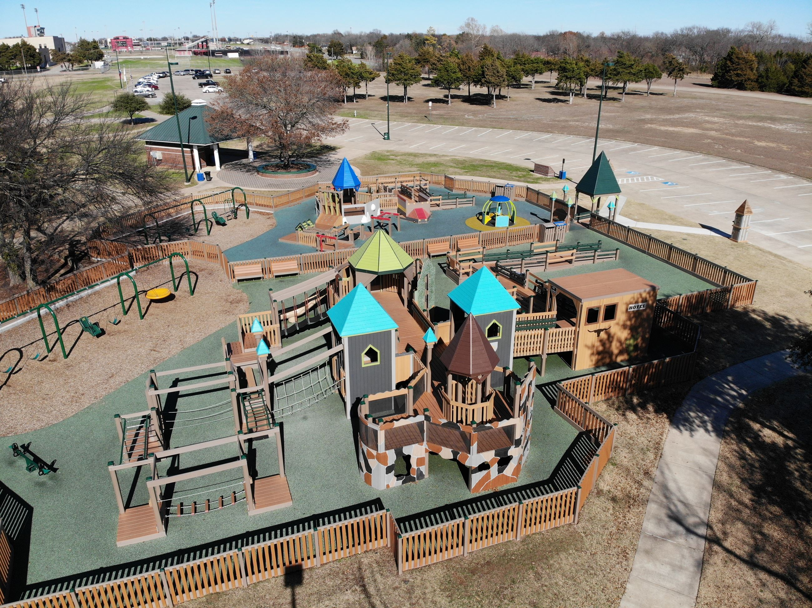 Aerial View of Virginia Weaver Creative Playground