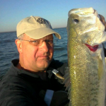 Large mouth bass catch