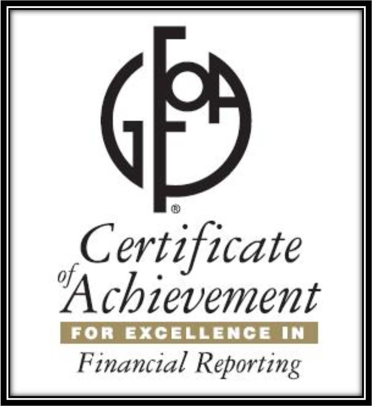 GFOA Comp Annual Financial Report Award